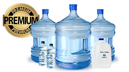 18.9 Litre Bottle 4 Litre Bottle 500 ml Bottle Blue Ridge Water